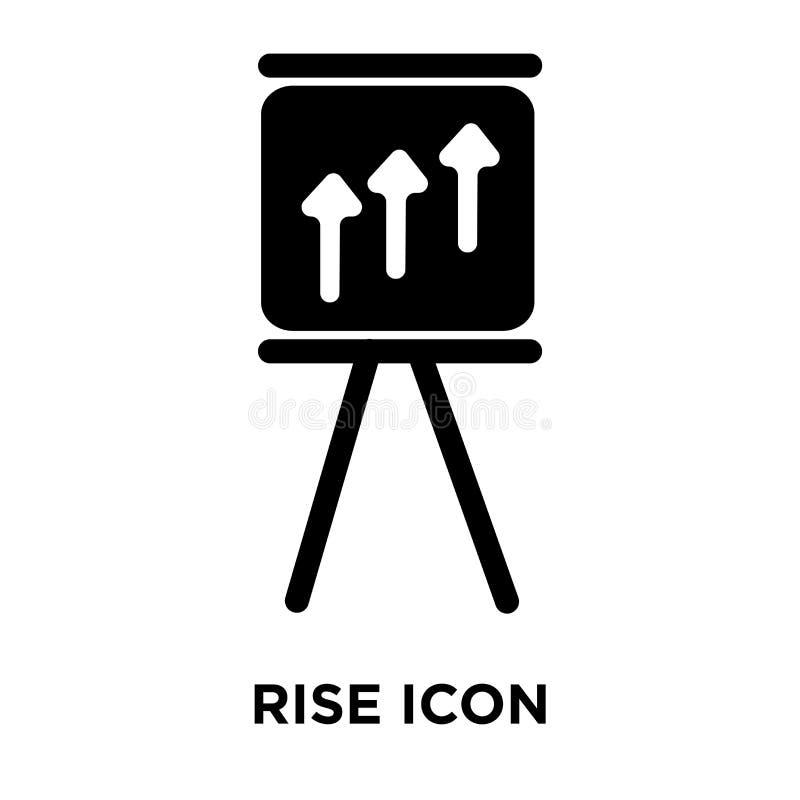 Vettore dell'icona di aumento isolato su fondo bianco, concetto di logo della R illustrazione vettoriale