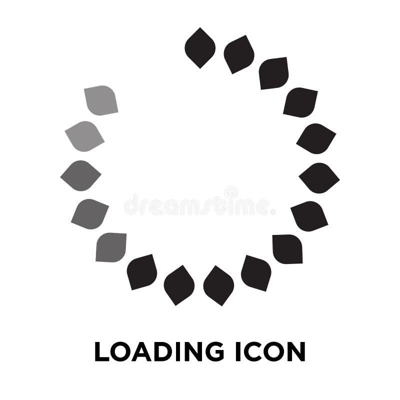 Vettore dell'icona di caricamento isolato su fondo bianco, concetto o di logo illustrazione vettoriale