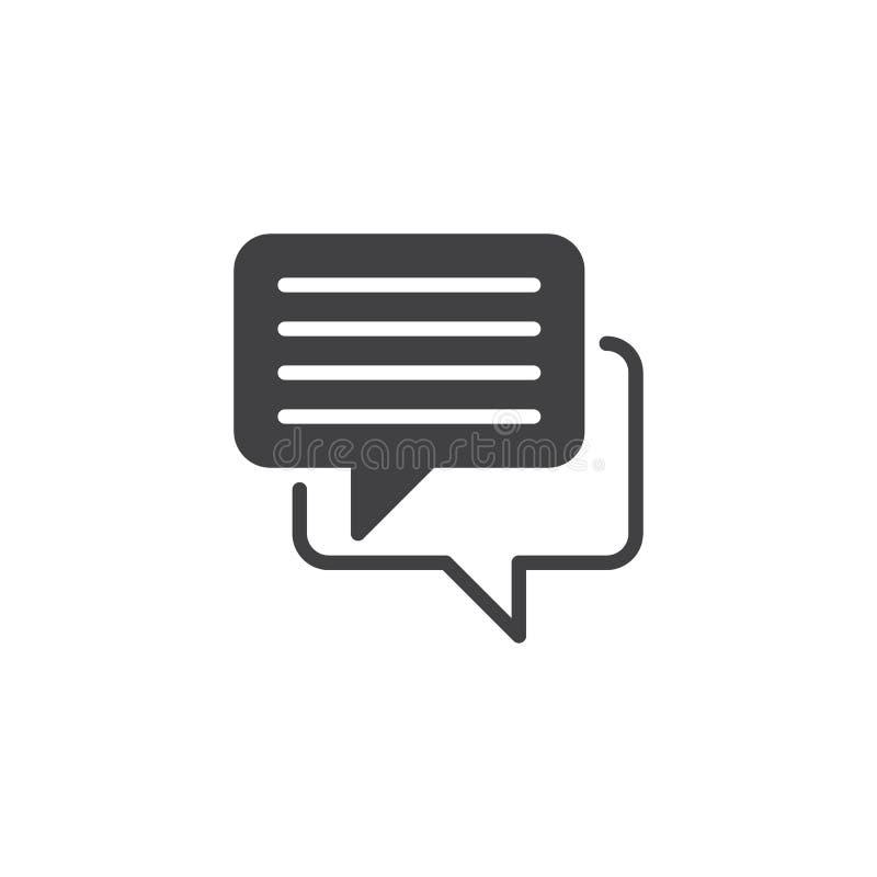 Vettore dell'icona di chiacchierata illustrazione vettoriale
