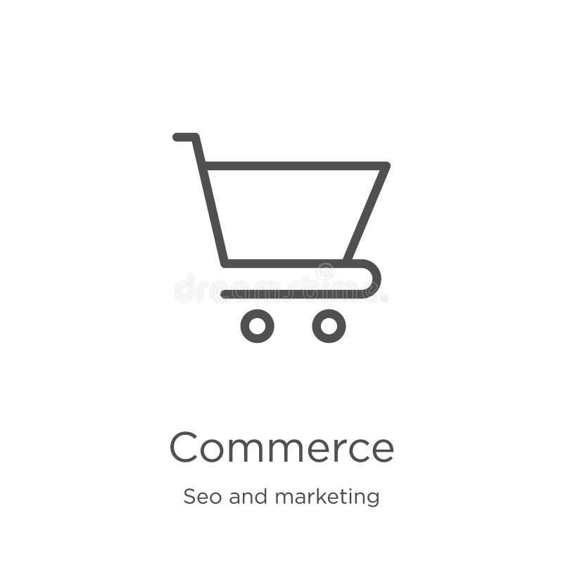 vettore dell'icona di commercio dalla raccolta di vendita e di seo Linea sottile illustrazione di vettore dell'icona del profilo  royalty illustrazione gratis