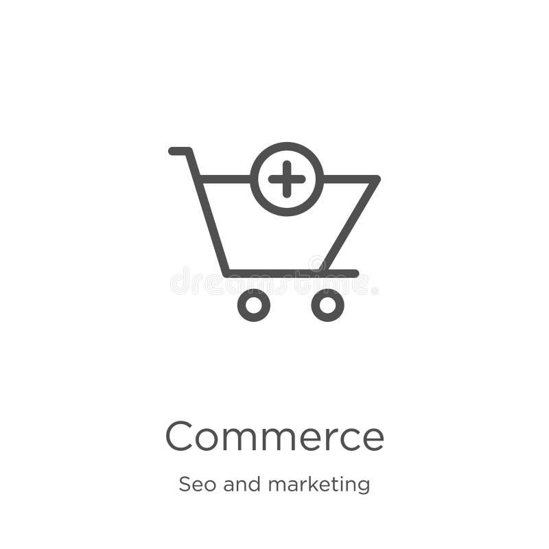 vettore dell'icona di commercio dalla raccolta di vendita e di seo Linea sottile illustrazione di vettore dell'icona del profilo  illustrazione di stock
