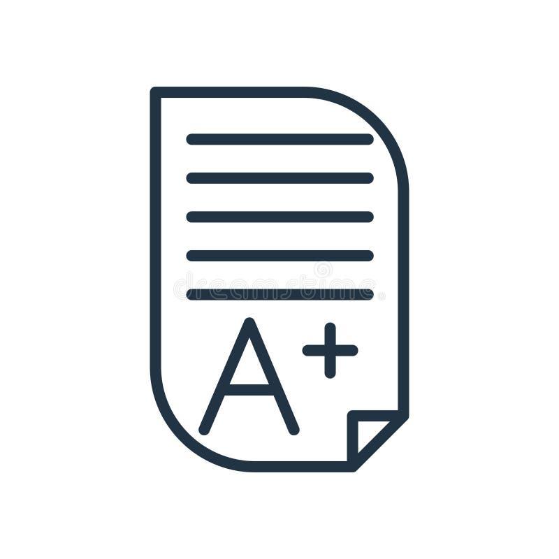 Vettore dell'icona di compito isolato su fondo bianco, segno di compito royalty illustrazione gratis