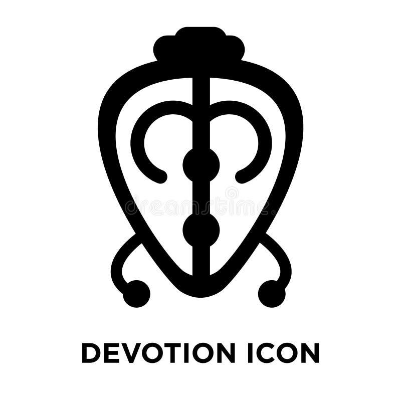 Vettore dell'icona di devozione isolato su fondo bianco, concetto di logo illustrazione vettoriale