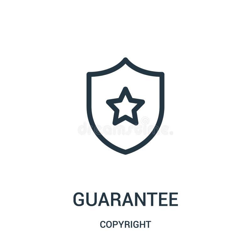vettore dell'icona di garanzia dalla raccolta del copyright Linea sottile illustrazione di vettore dell'icona del profilo di gara illustrazione vettoriale