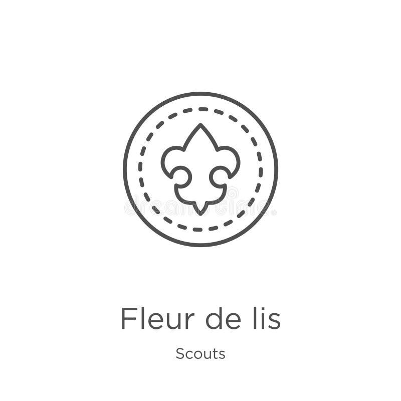 vettore dell'icona di giglio araldico dalla raccolta degli esploratori Linea sottile illustrazione di vettore dell'icona del prof royalty illustrazione gratis