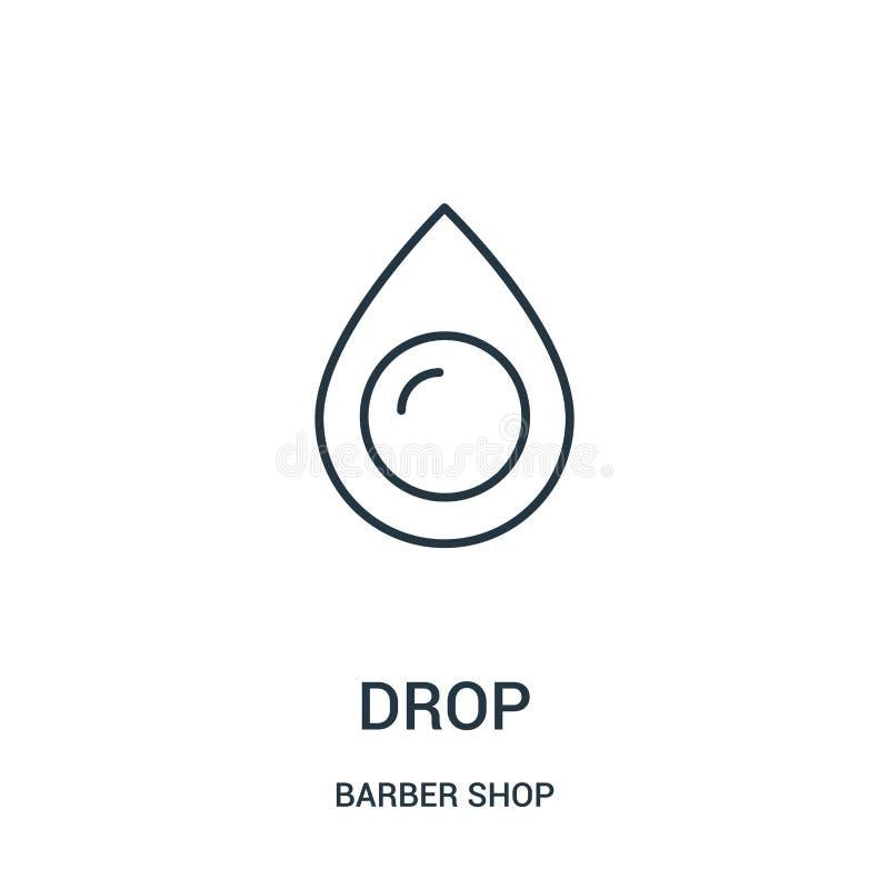 vettore dell'icona di goccia dalla raccolta del negozio di barbiere Linea sottile illustrazione di vettore dell'icona del profilo royalty illustrazione gratis