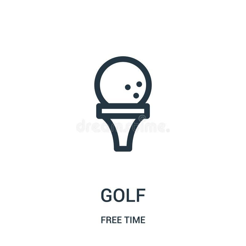 vettore dell'icona di golf dalla raccolta di tempo libero Linea sottile illustrazione di vettore dell'icona del profilo di golf S illustrazione vettoriale