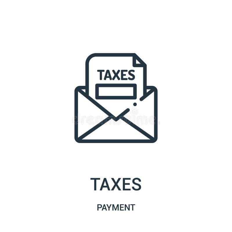 vettore dell'icona di imposte dalla raccolta di pagamento Linea sottile illustrazione di vettore dell'icona del profilo di impost illustrazione vettoriale