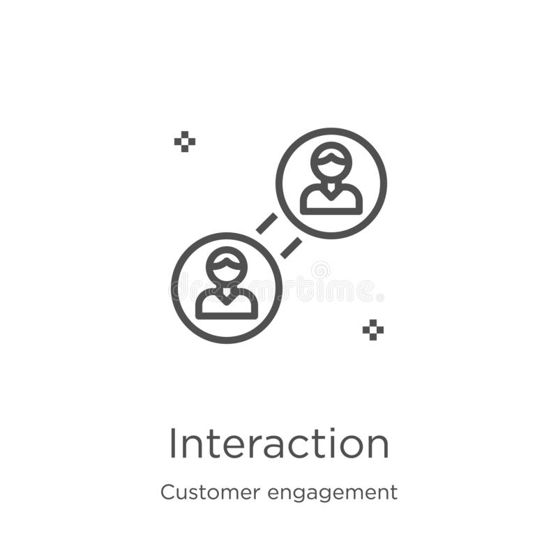 vettore dell'icona di interazione dalla raccolta di impegno del cliente Linea sottile illustrazione di vettore dell'icona del pro royalty illustrazione gratis