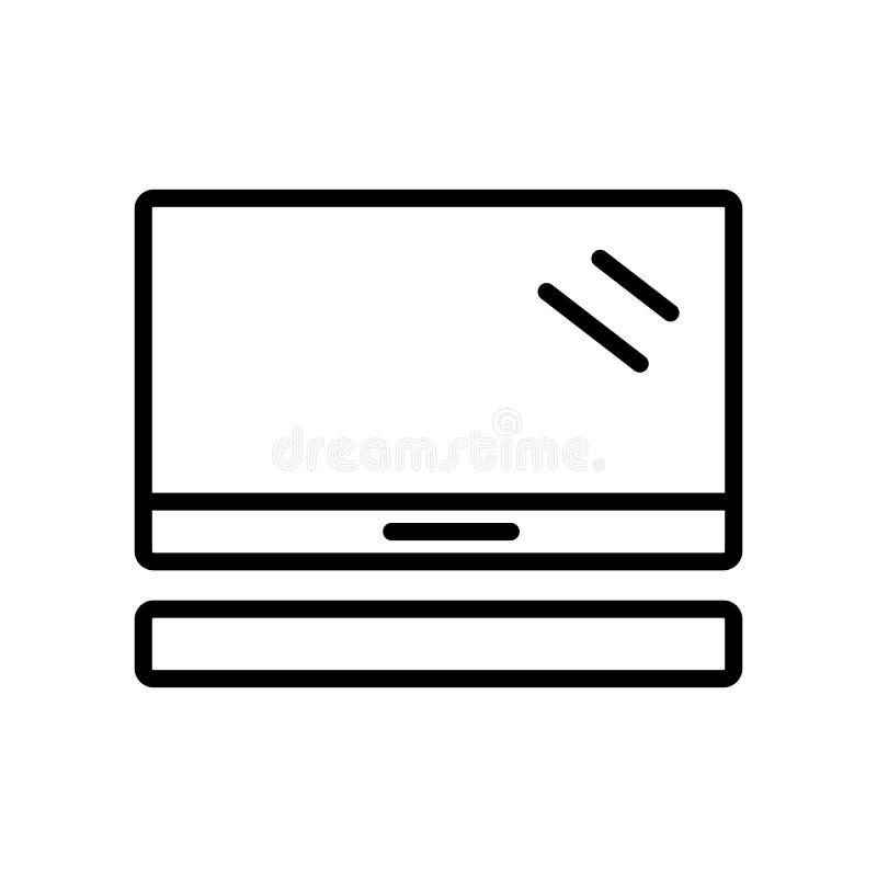 Vettore dell'icona di Mac Pro isolato su fondo bianco, segno di Mac Pro illustrazione di stock