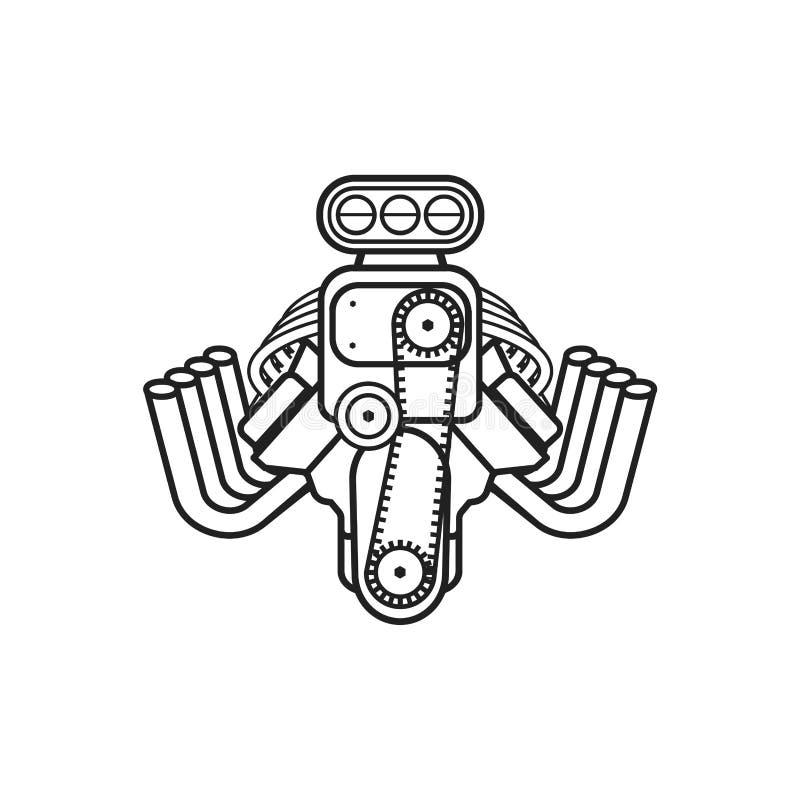Vettore dell'icona di maniaco della velocità dell'automobile sportiva del muscolo della barretta calda del motore royalty illustrazione gratis