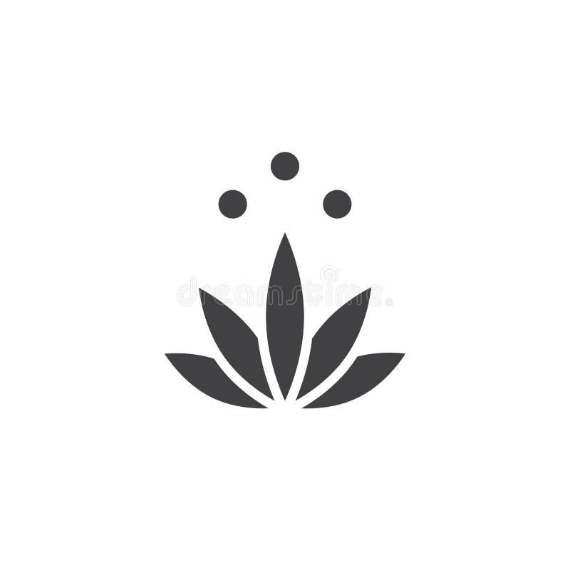 Vettore dell'icona di meditazione illustrazione di stock
