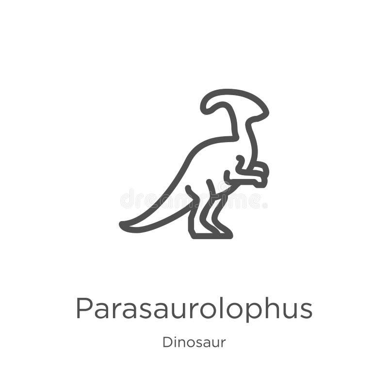 vettore dell'icona di parasaurolophus dalla raccolta del dinosauro Linea sottile illustrazione di vettore dell'icona del profilo  illustrazione vettoriale