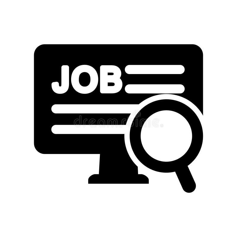 Vettore dell'icona di posto vacante di ricerca Simbolo dell'illustrazione di carriera della lente di ingrandimento Logo del dator illustrazione di stock