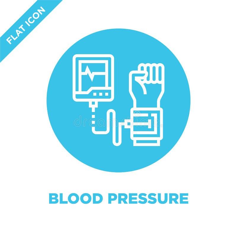 vettore dell'icona di pressione sanguigna dalla raccolta sana di vita Linea sottile illustrazione di vettore dell'icona del profi illustrazione vettoriale