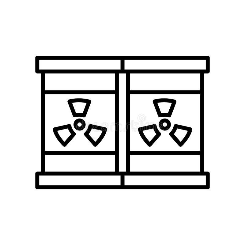 Vettore dell'icona di radiazione isolato su fondo bianco, segno di radiazione, linea sottile elementi di progettazione nello stil royalty illustrazione gratis