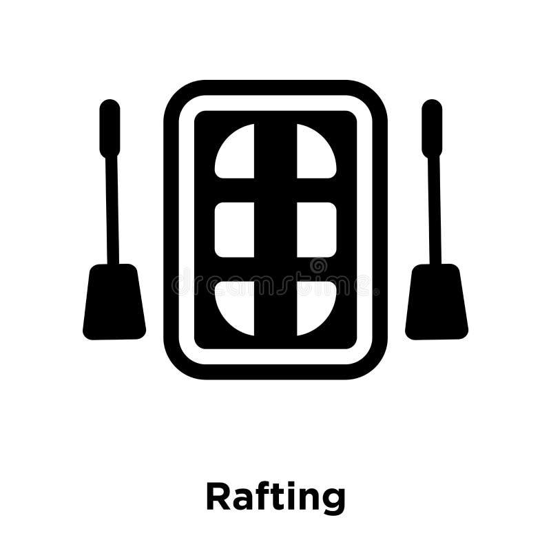 Vettore dell'icona di rafting isolato su fondo bianco, concetto o di logo illustrazione vettoriale