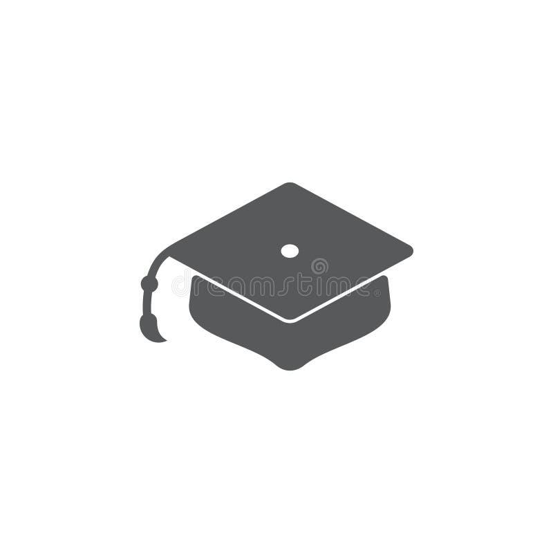 Vettore dell'icona di simbolo del cappello di graduazione illustrazione vettoriale