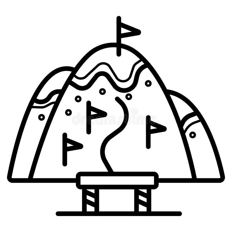 Vettore dell'icona di slalom illustrazione di stock
