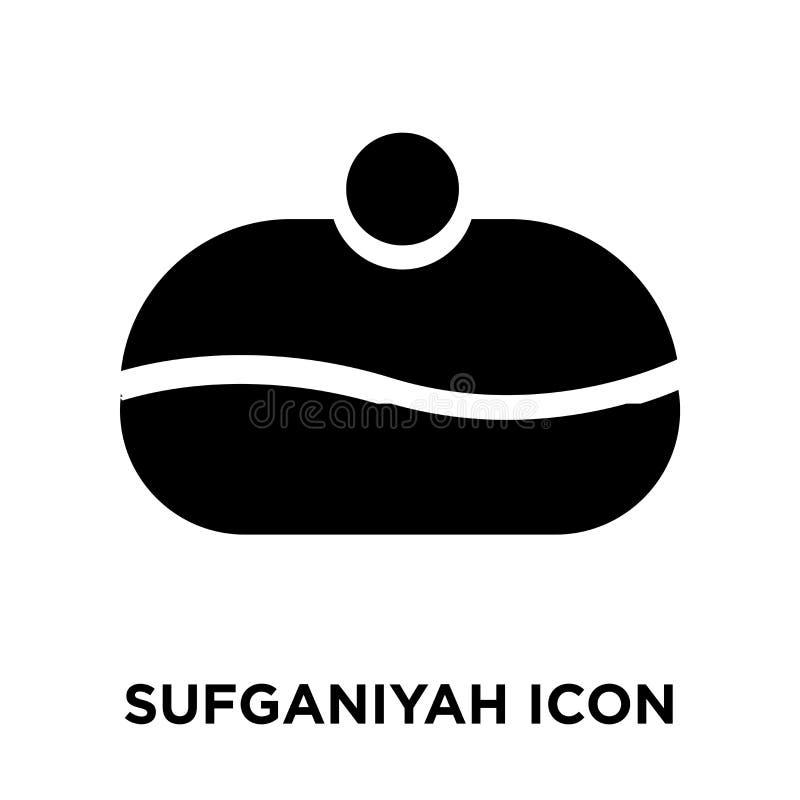 Vettore dell'icona di Sufganiyah isolato su fondo bianco, concep di logo illustrazione vettoriale