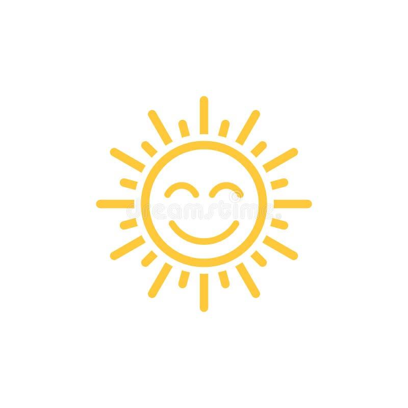 Vettore dell'icona di Sun illustrazione di stock