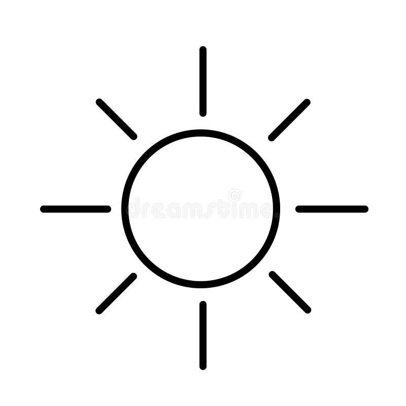 Vettore dell'icona di Sun royalty illustrazione gratis
