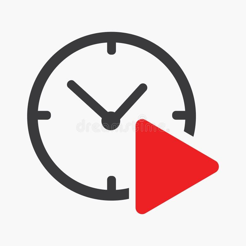 Vettore dell'icona di tempo del gioco illustrazione di stock