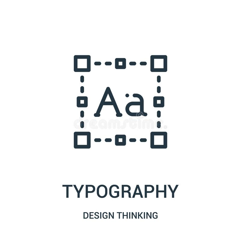 vettore dell'icona di tipografia dalla raccolta di pensiero di progettazione Linea sottile illustrazione di vettore dell'icona de illustrazione vettoriale