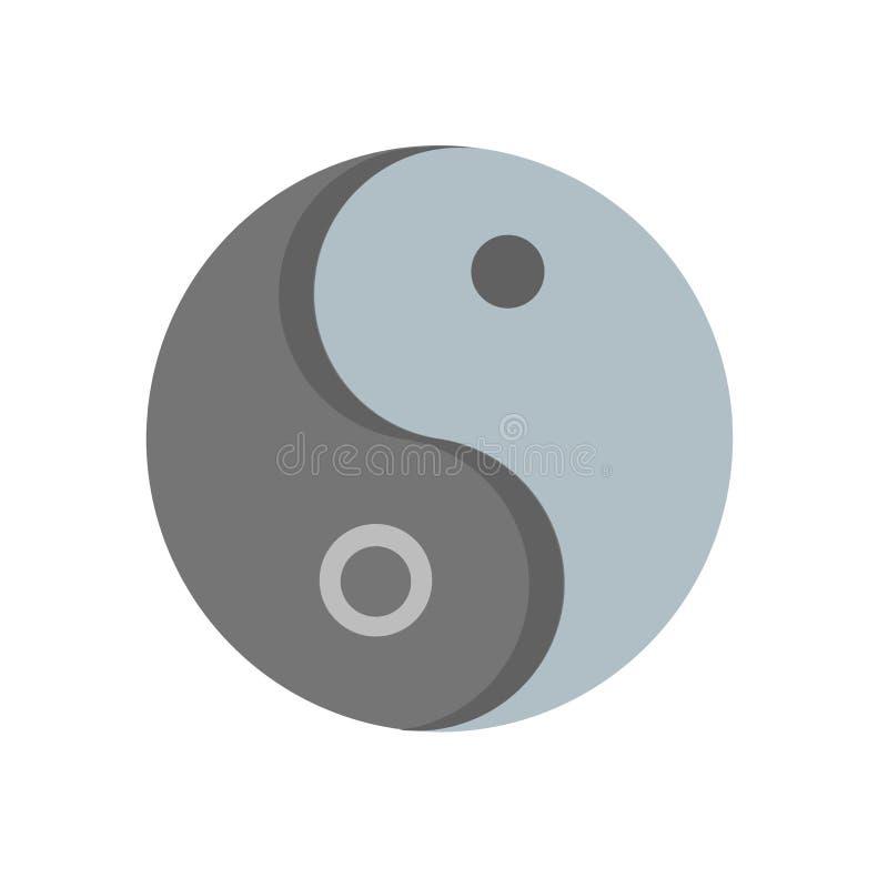 Vettore dell'icona di yin yang isolato su fondo bianco, segno di yin yang, illustrazioni umane, illustrazioni umane illustrazione vettoriale