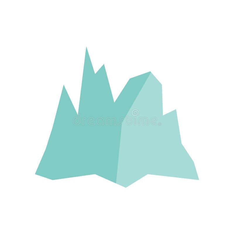 Vettore dell'icona dell'iceberg isolato su fondo bianco, segno dell'iceberg, simboli di tempo royalty illustrazione gratis