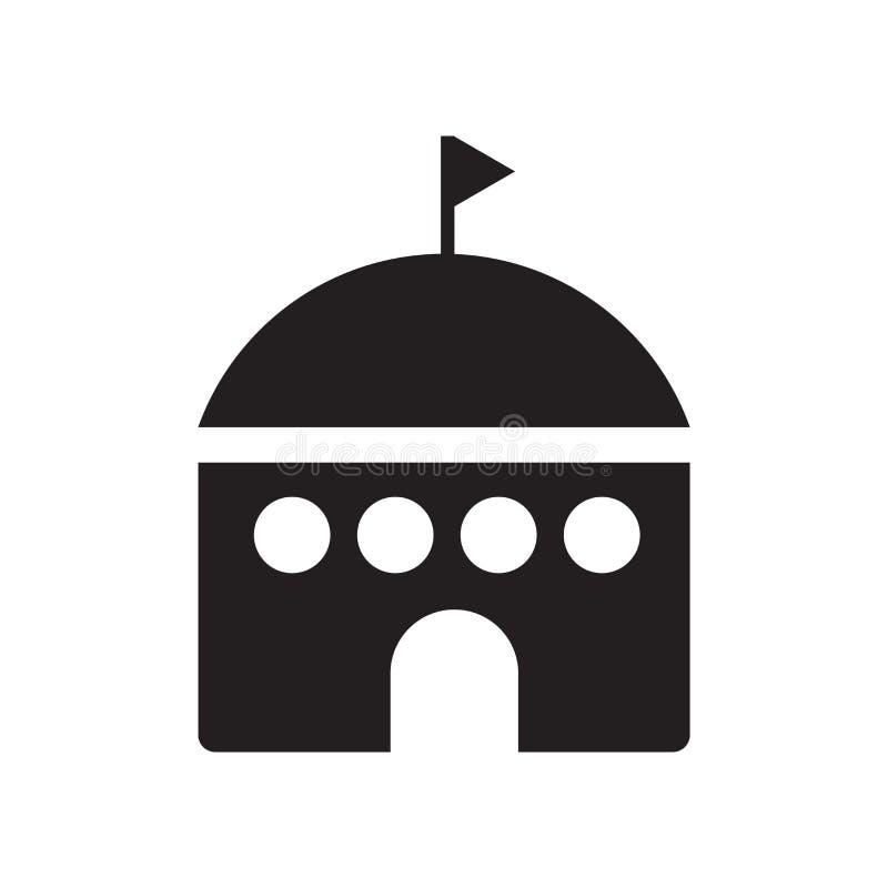 Vettore dell'icona dell'iglù isolato su fondo bianco, segno dell'iglù, simboli di vacanza royalty illustrazione gratis