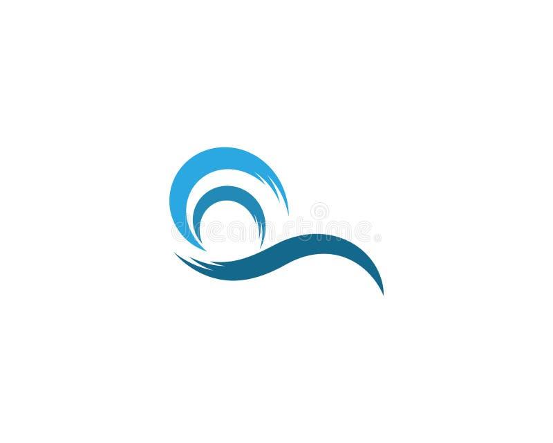 Vettore dell'icona dell'onda di acqua illustrazione di stock