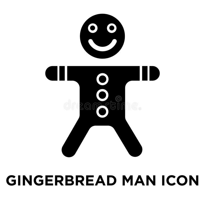 Vettore dell'icona dell'uomo di pan di zenzero isolato su fondo bianco, logo c royalty illustrazione gratis