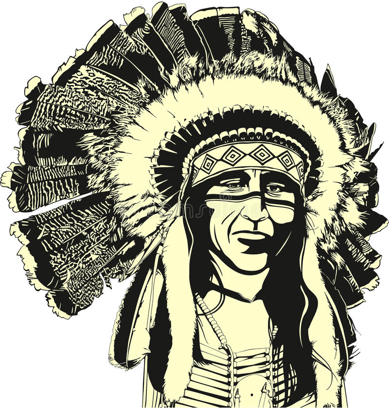 Amarican indigeno royalty illustrazione gratis