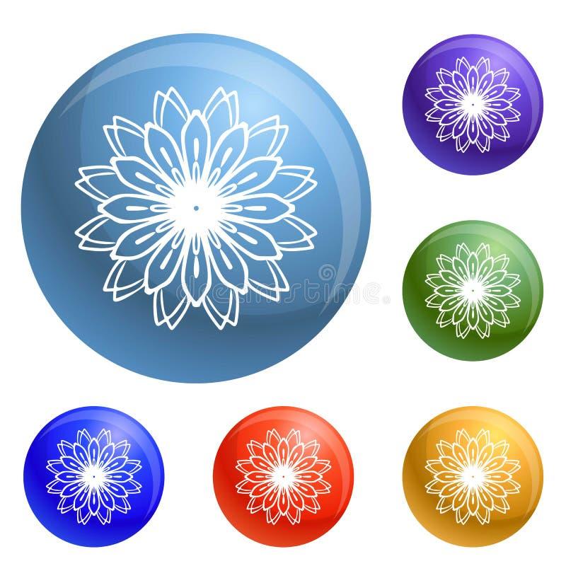 Vettore dell'insieme delle icone del fiore del petalo illustrazione vettoriale