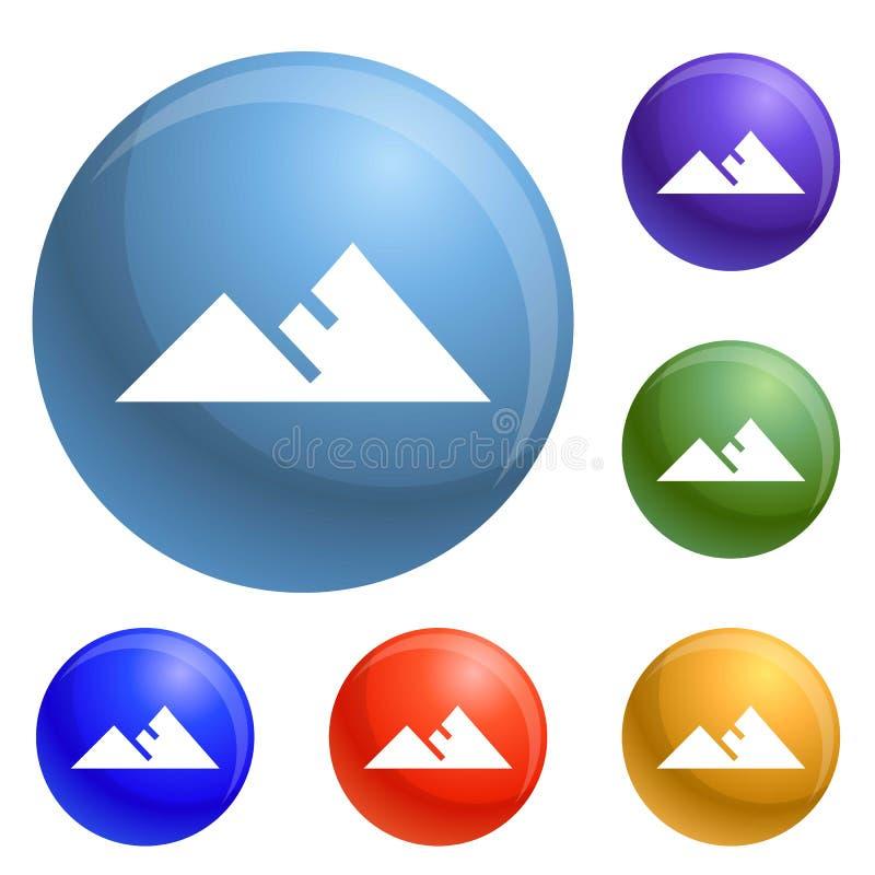 Vettore dell'insieme delle icone della montagna royalty illustrazione gratis