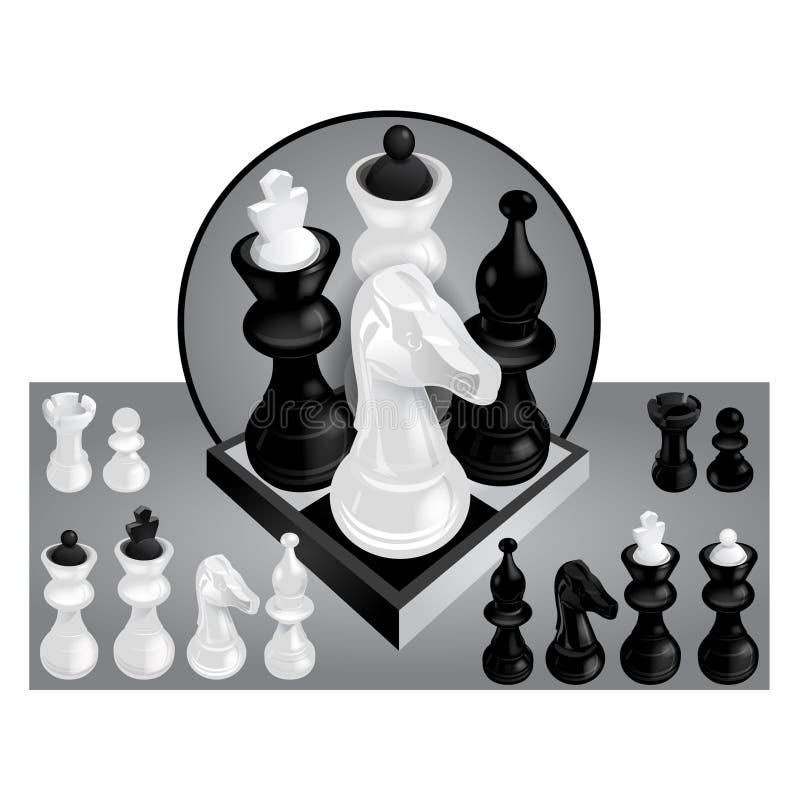 Vettore dell'insieme di scacchi fotografia stock