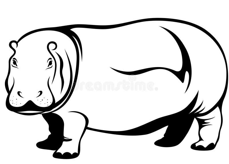 Vettore dell'ippopotamo royalty illustrazione gratis