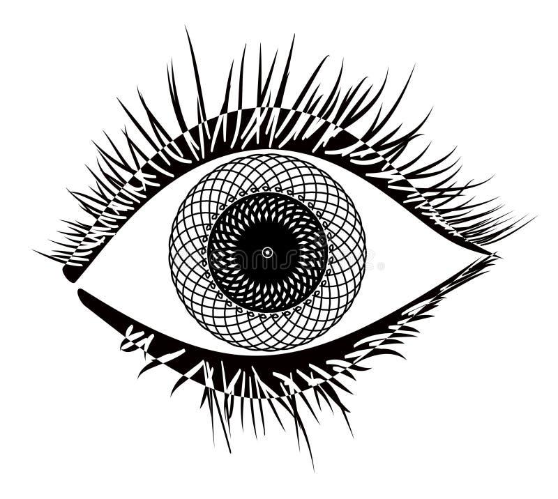 Vettore dell'occhio royalty illustrazione gratis
