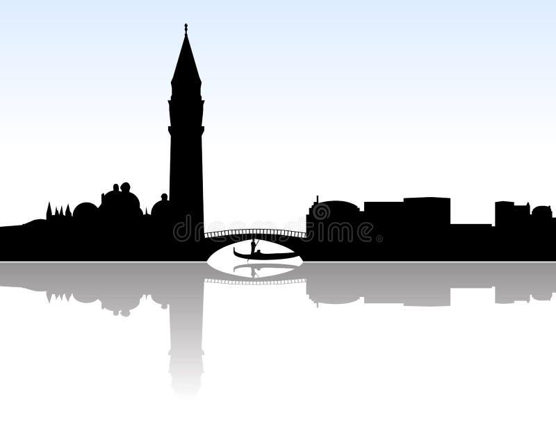 Vettore dell'orizzonte di Venezia royalty illustrazione gratis