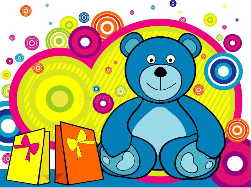 Vettore dell'orso del fumetto illustrazione vettoriale