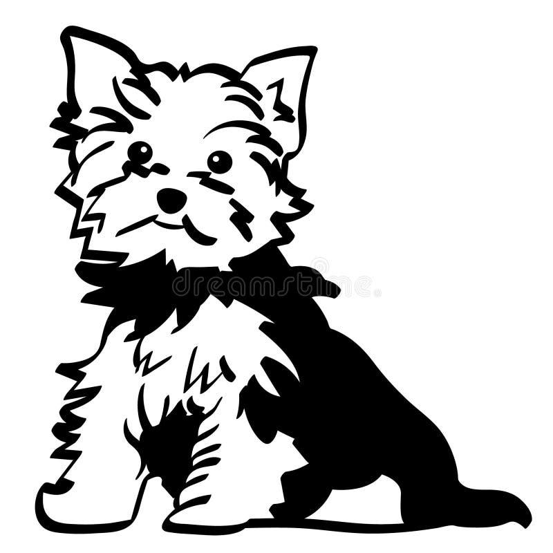Vettore dell'Yorkshire terrier, ENV, logo, icona, illustrazione della siluetta dai crafteroks per gli usi differenti Visiti il mi royalty illustrazione gratis
