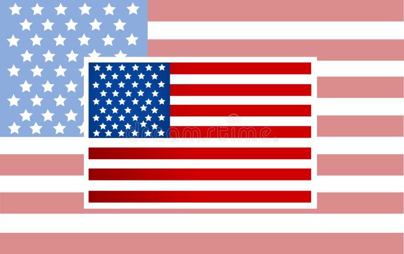 Vettore della bandiera americana di vettore royalty illustrazione gratis