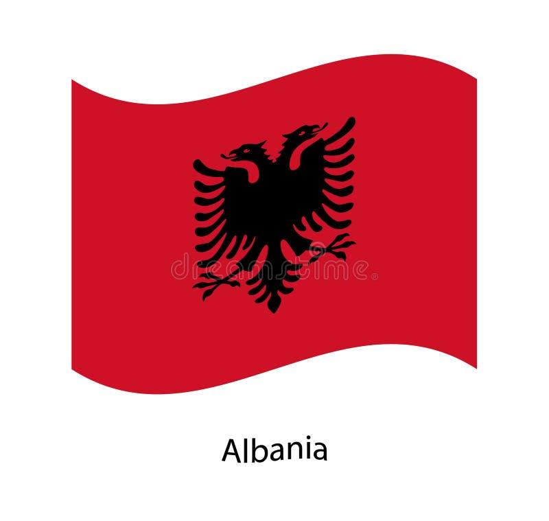 Vettore della bandiera dell'Albania illustrazione vettoriale