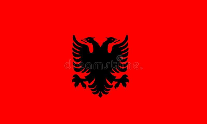 Vettore della bandiera dell'Albania Illustrazione della bandiera dell'Albania royalty illustrazione gratis
