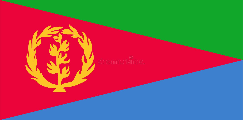 Vettore della bandiera dell'Eritrea Illustrazione della bandiera dell'Eritrea royalty illustrazione gratis