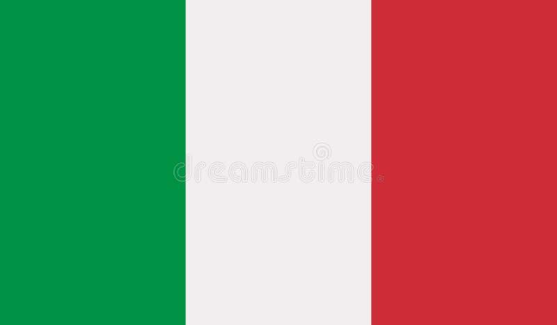 Vettore della bandiera dell'Italia illustrazione vettoriale