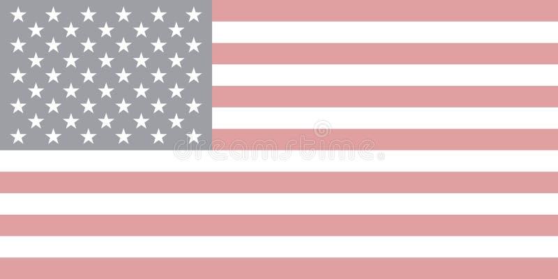 Vettore della bandiera di U.S.A. nello stile sbiadito royalty illustrazione gratis