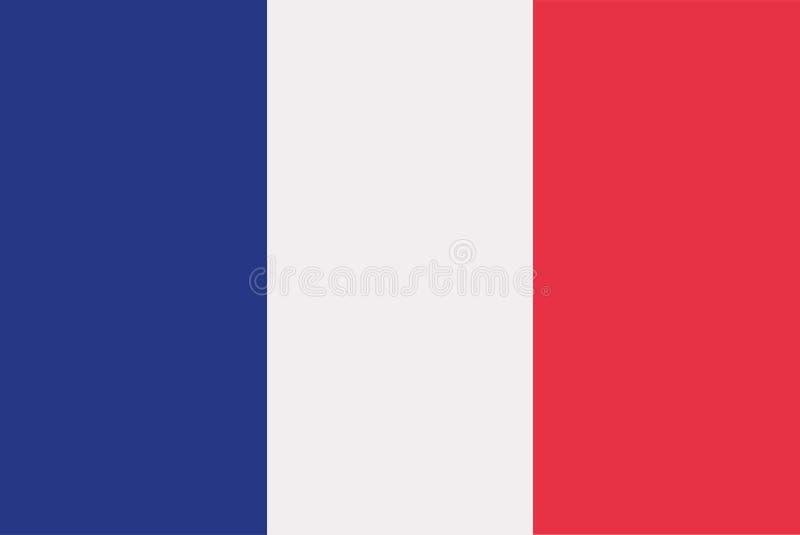 Vettore della bandiera della Francia illustrazione di stock