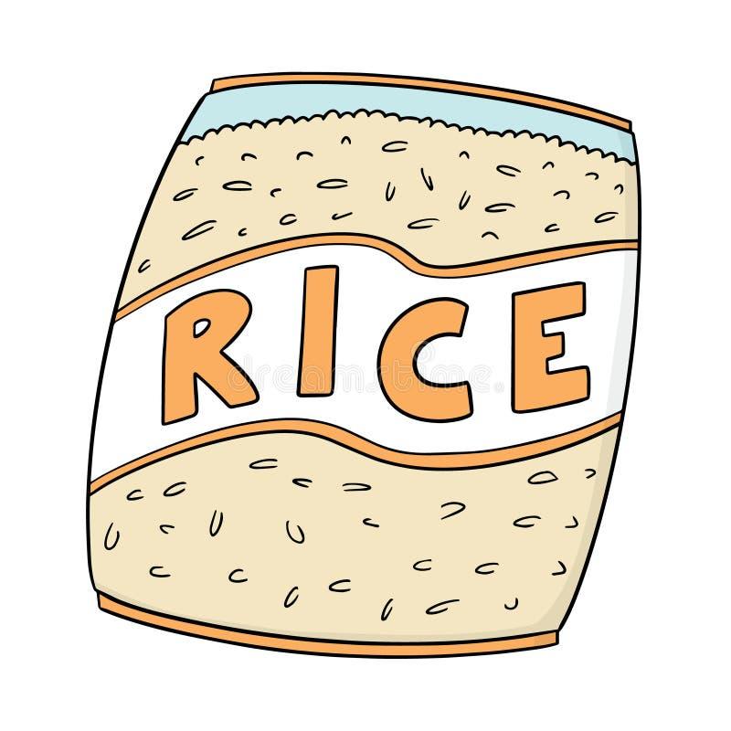 Vettore della borsa del riso illustrazione di stock